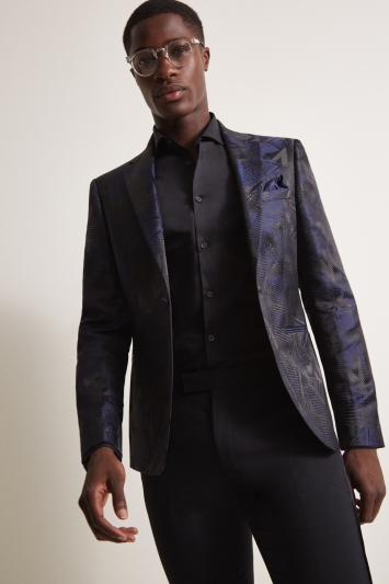 Moss London Slim Fit Midnight Jacquard Jacket