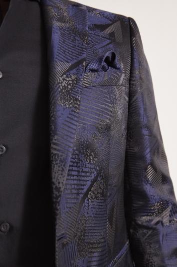 Moss London Slim Fit Midnight Jacquard Jacket