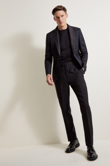 Moss London Slim Fit Tartan Dresswear Jacket