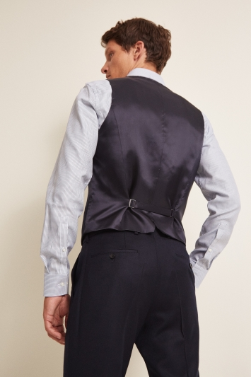 HUGO by Hugo Boss Tailored Ink Flannel Waistcoat