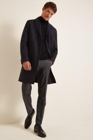 HUGO by Hugo Boss Navy Malte Overcoat