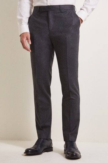 Barberis Tailored Fit Grey Flannel Trousers
