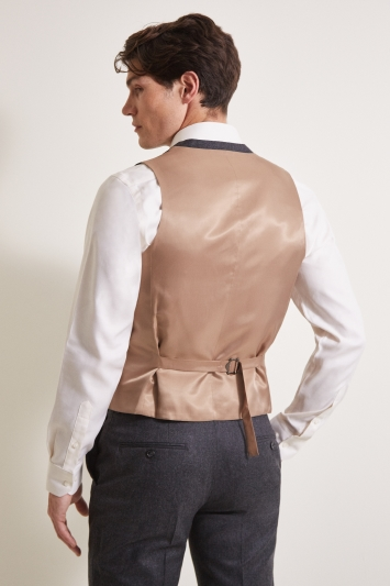 Barberis Tailored Fit Grey Flannel Waistcoat