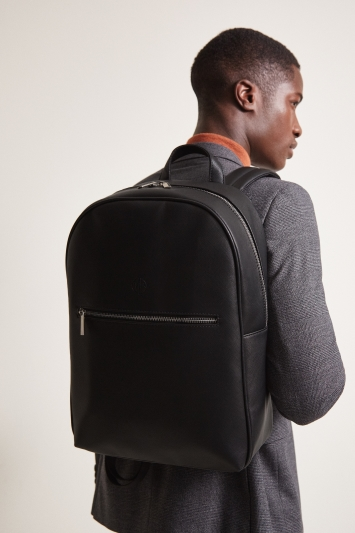 Black Saffiano Backpack