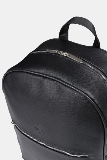 Black Saffiano Backpack