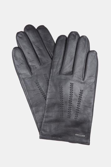 Hugo Boss Black Leather Gloves