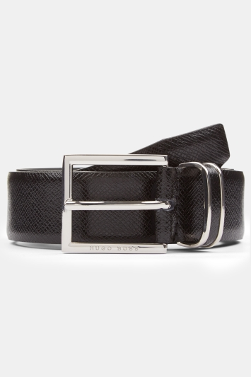Hugo Boss Black BOSS Embossed with Metal Loop Belt
