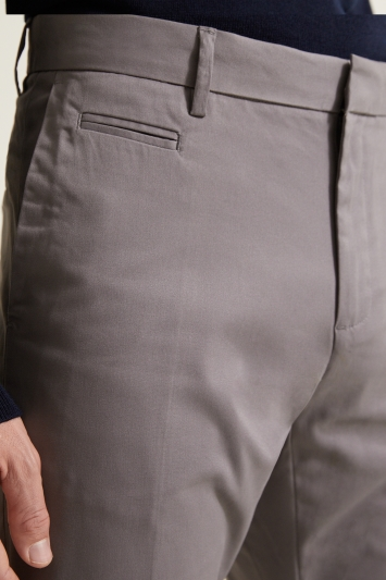 Slim Fit Grey Stretch Chino
