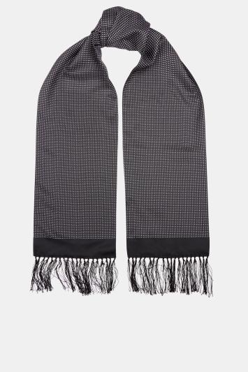 Moss London Black Pin Dot Dress Scarf