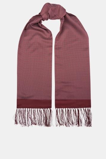 Moss London Wine Pin Dot Dress Scarf