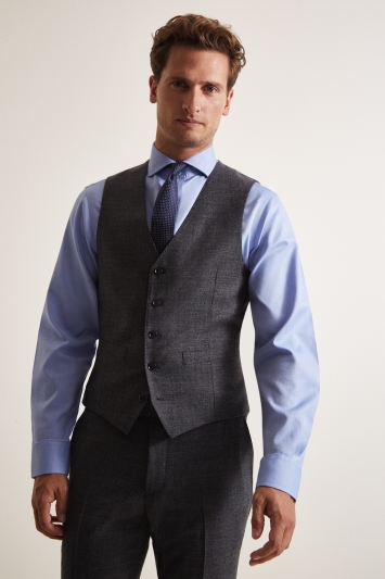 Moss 1851 Performance Tailored Fit Grey Milled Waistcoat