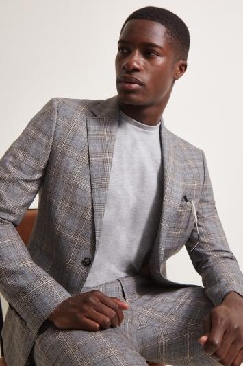 Moss London Slim Fit Vintage Check Jacket