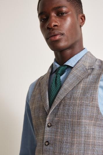 Moss London Slim Fit Vintage Check Waistcoat