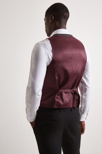 Moss London Charcoal Multi Check Tweed Waistcoat