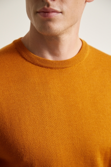 Moss London Mustard Crew-Neck Jumper