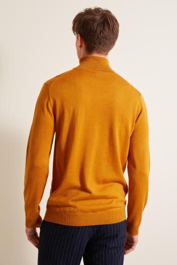Moss London Mustard Roll-Neck Jumper