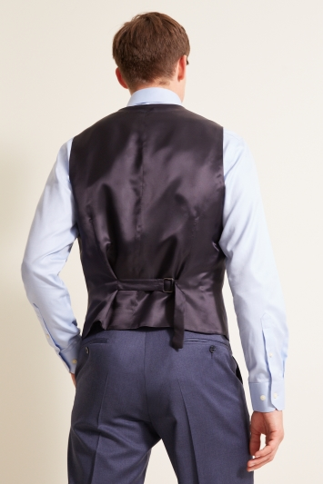 STG Exclusive Tailored Fit Airforce Blue Twill Waistcoat