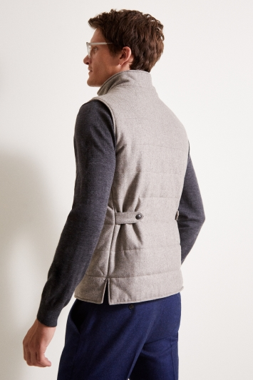 Savoy Taylors Guild Tailored Fit Taupe Gilet