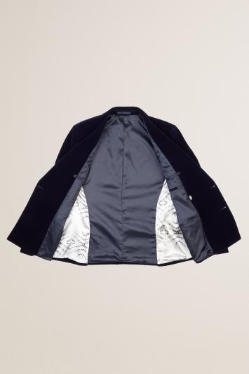 Slim Fit Ink Velvet Dress Jacket