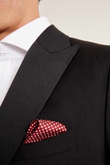 Barberis Tailored Fit Black Wool Mohair Dress Jacket