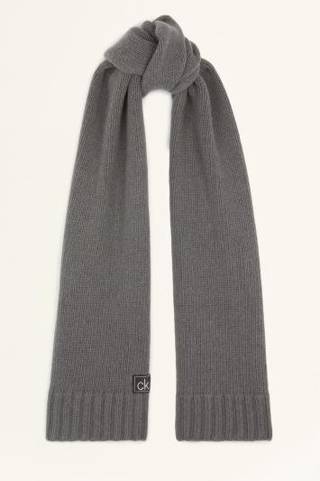 Calvin Klein Dark Grey Knitted Scarf and Beanie Set