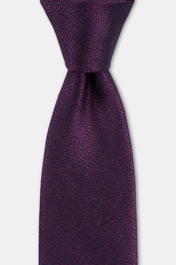 Moss 1851 Purple Broken Texture Silk Tie