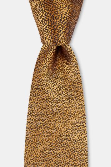 Moss 1851 Mustard Broken Texture Silk Tie
