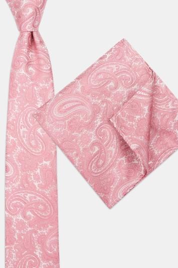 Pink Paisley Tie & Hank Set