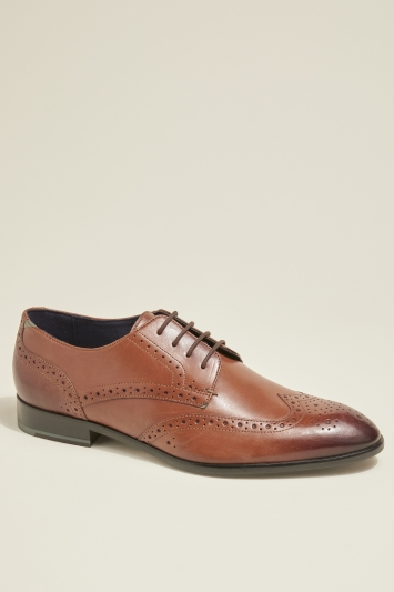 Ted Baker Trvss Tan Brogue Derby