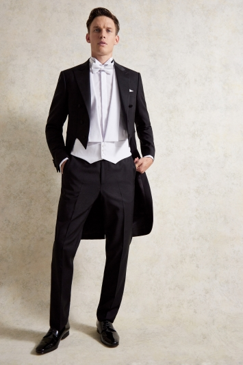 Tailored Fit Black Tail Jacket