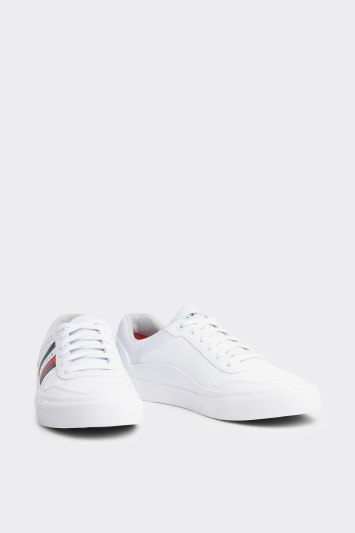 Tommy Hilfiger White TH Side Colour Trainer
