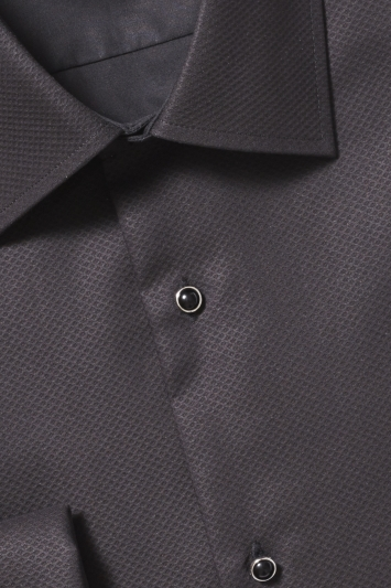 Tailored Fit Black Marcella Dress Shirt