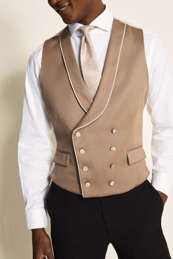 Tailored Fit Brown Waistcoat