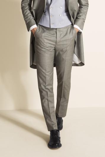 Tailored Fit Grey Sharkskin Morning Coat