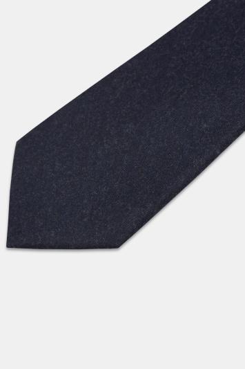 Moss 1851 Navy Vitale Barberis Canonico Italian Flannel Tie
