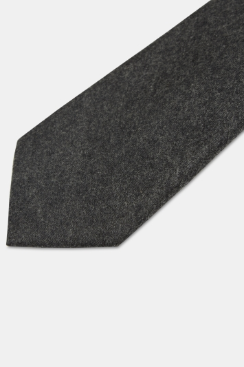 Moss 1851 Charcoal Vitale Barberis Canonico Italian Flannel Tie