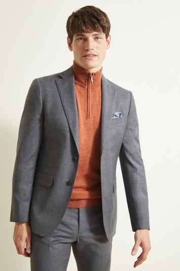 Moss 1851 Slim Fit Grey Twill Jacket