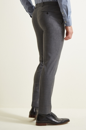 Moss 1851 Slim Fit Grey Twill Trousers
