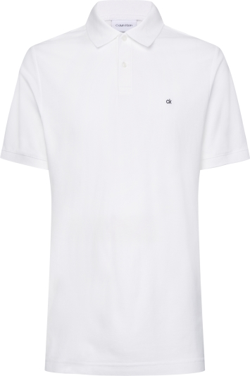 Calvin Klein White Pique Slim-Fit Polo Shirt