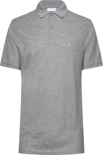Calvin Klein Mid-Grey Pique Slim-Fit Polo Shirt