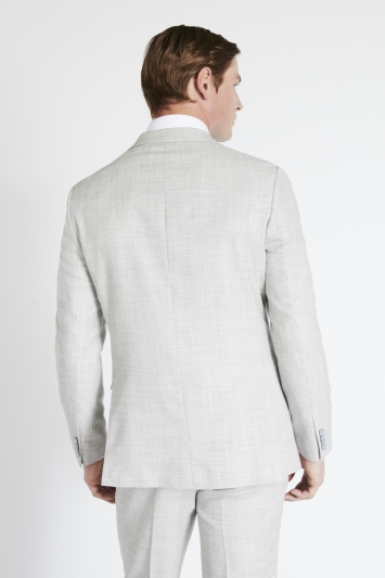 French Connection Slim Fit Light Grey Flannel Jacket