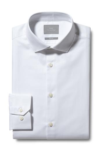 Slim Fit White Eco Twill Shirt