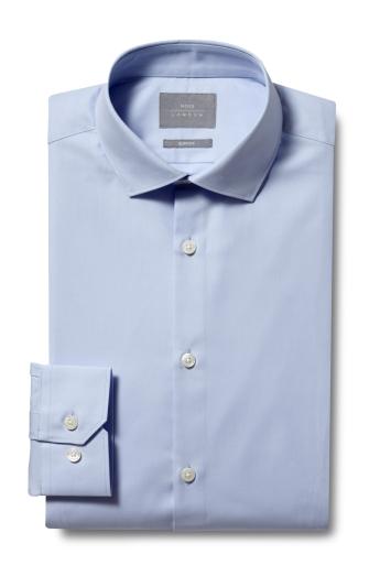 Slim Fit Blue Eco Twill Shirt