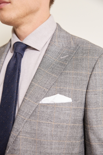 French Connection Slim Fit Grey Check Jacket