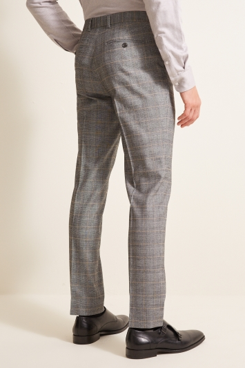 French Connection Slim Fit Grey Check Trousers
