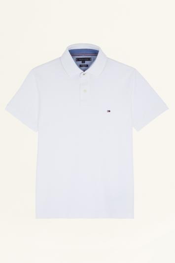 Tommy Hilfiger White Core Slim-Fit Polo Shirt