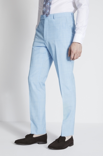 French Connection Slim Fit Sky Blue Marl Trousers