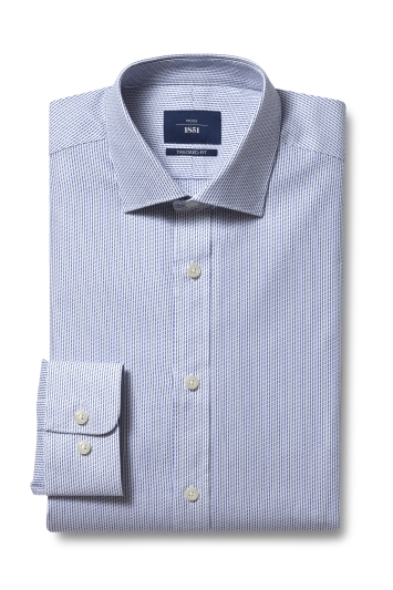 Tailored Fit Navy Stripe Shirt