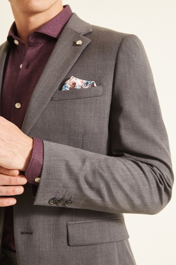 Ted Baker Slim Fit Grey Twill Jacket