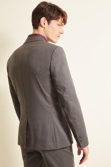 Ted Baker Slim Fit Grey Twill Jacket